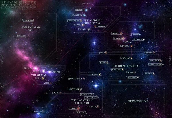 Interactive map of the Eridani Sector.